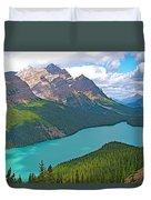 Peyto Lake Along Icefield Parkway In Alberta-canada Duvet Cover