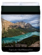 Peyto Lake Poster Duvet Cover