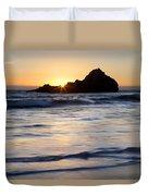 Pfeiffer Beach Sunset II Duvet Cover by Jenna Szerlag