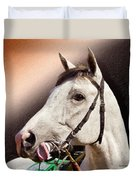 Phantom Lover Race Horse Looking On Duvet Cover