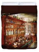 Pharmacist - Behind The Scenes  Duvet Cover by Mike Savad