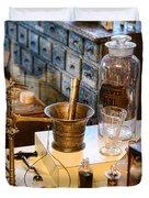 Pharmacist - Brass Mortar And Pestle Duvet Cover