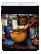 Pharmacist - Mortar And Pestle Duvet Cover by Mike Savad