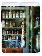 Pharmacy - Back Room Of Drug Store Duvet Cover