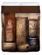 Pharmacy - Cures For The Bowels Duvet Cover by Mike Savad