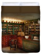 Pharmacy - Patent Medicine  Duvet Cover by Mike Savad