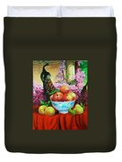 Pheasant And Fruit Duvet Cover
