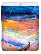 Pheasant Moon Duvet Cover