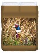Pheasant Portrait Duvet Cover