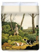 Pheasant Shootin Duvet Cover