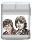 Phil And Don Everly Duvet Cover