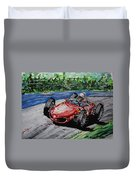 Phil Hill At Nurburgring. Duvet Cover