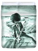 Phil Lynott In Howth Duvet Cover
