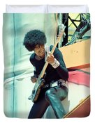 Phil Lynott Of Thin Lizzy - Black Rose Tour Day On The Green 7-4-79  Duvet Cover