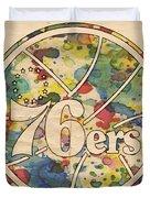 Philadelphia 76ers Retro Poster Duvet Cover