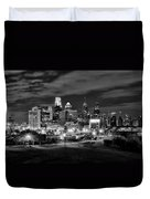 Philadelphia Black And White Cityscape Duvet Cover