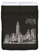 Philadelphia City Hall Mono Duvet Cover
