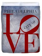 Philadelphia City Of Brotherly Love  Duvet Cover