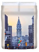 Philadelphia Cityhall In The Morning Duvet Cover