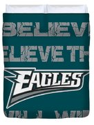 Philadelphia Eagles I Believe Duvet Cover
