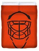 Philadelphia Flyers Goalie Mask Duvet Cover