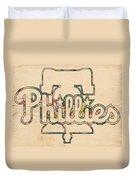 Philadelphia Phillies Logo Art Duvet Cover