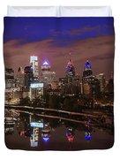 Philadelphia - Reflections On The Schuylkill River Duvet Cover