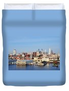 Philadelphia River View Duvet Cover by Bill Cannon