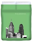Philadelphia Skyline Liberty Place 2 - Apple Duvet Cover