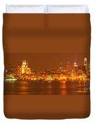 Philadelphia Skyline Panorama Duvet Cover