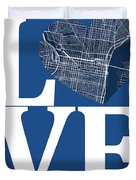 Philadelphia Street Map Love - Philadelphia Pennsylvania Texas R Duvet Cover