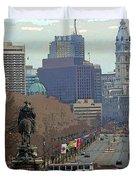 Philadelphia - The Parkway Duvet Cover