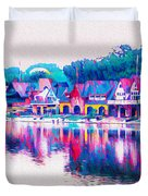 Philadelphia's Boathouse Row On The Schuylkill River Duvet Cover