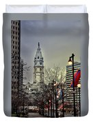 Philadelphia's Iconic City Hall Duvet Cover by Bill Cannon