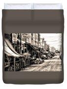 Philadelphia's Italian Market Duvet Cover by Bill Cannon