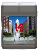 Philadelphia's Love Park Duvet Cover