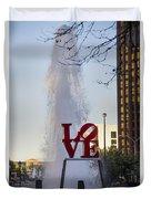 Philadelphia's Love Story Duvet Cover