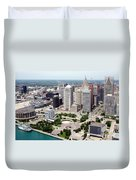 Philip A Hart Plaza Detroit Duvet Cover