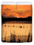 Philippines Manila Fishing Duvet Cover by Anonymous