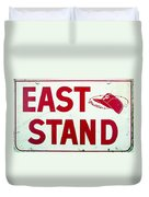 Phillies East Stand Sign - Connie Mack Stadium Duvet Cover