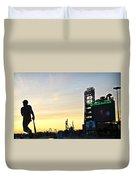 Phillies Stadium At Dawn Duvet Cover