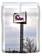 Phillies Stadium Sign Duvet Cover