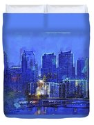 Philly Blue Duvet Cover