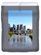 Philly Bridges Buildings Duvet Cover