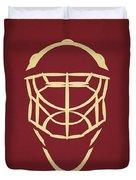 Phoenix Coyotes Goalie Mask Duvet Cover