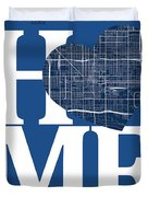 Phoenix Street Map Home Heart - Phoenix Arizona Road Map In A He Duvet Cover