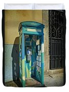 Phone Booth In Blues - Oporto Duvet Cover
