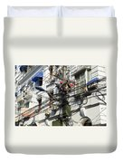 Phone Lines And Laundry Duvet Cover