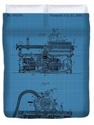 Phonograph Blueprint Patent Drawing Duvet Cover