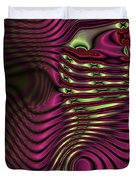 Phosphorescent Fish Fossil Duvet Cover